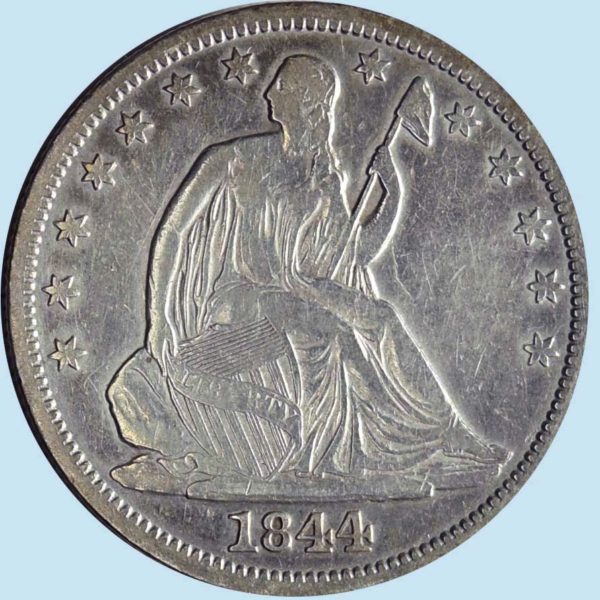 1844-O Seated Liberty Half Dollar. Extra Fine. Details