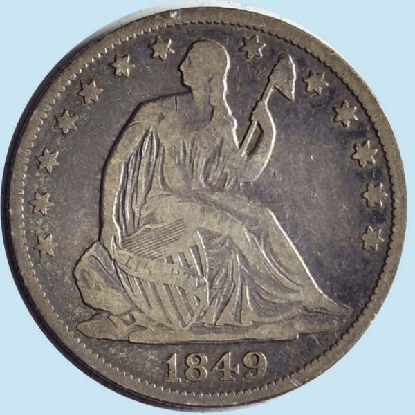 1849-O Seated Liberty Half Dollar. Fine