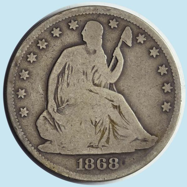 1868-S Seated Liberty Half Dollar. Very Good