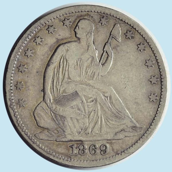 1869-S Seated Liberty Half Dollar. Fine