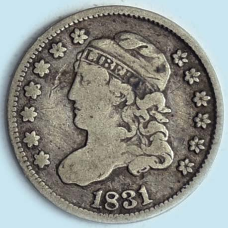 1831 Capped Bust Half Dime. LM-1.1. R1. Fine