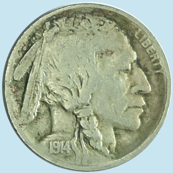 1914-S Buffalo Nickel. Very Fine.