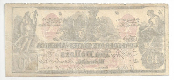 CSA CT-22 / 152D high quality contemporary counterfeit of Confederate States of America T-22 VF-EF, with full margins