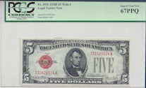 Fr-1531 1928F $5 Wide I Legal Tender Note PCGS Superb Gem New 67PPQ.